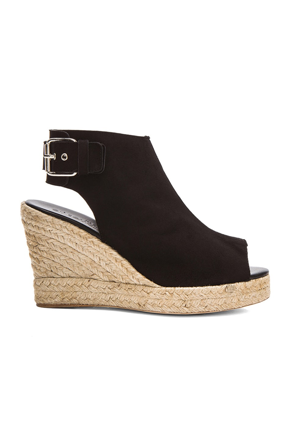 Image 1 of elysewalker los angeles Lesley Suede Wedges in Black