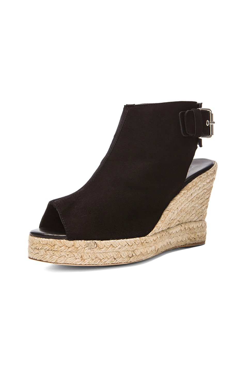 Image 2 of elysewalker los angeles Lesley Suede Wedges in Black
