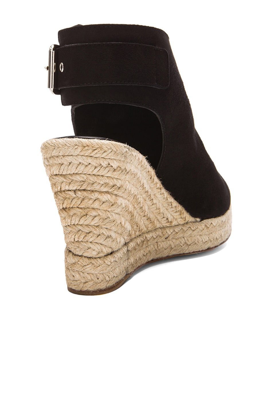 Image 3 of elysewalker los angeles Lesley Suede Wedges in Black