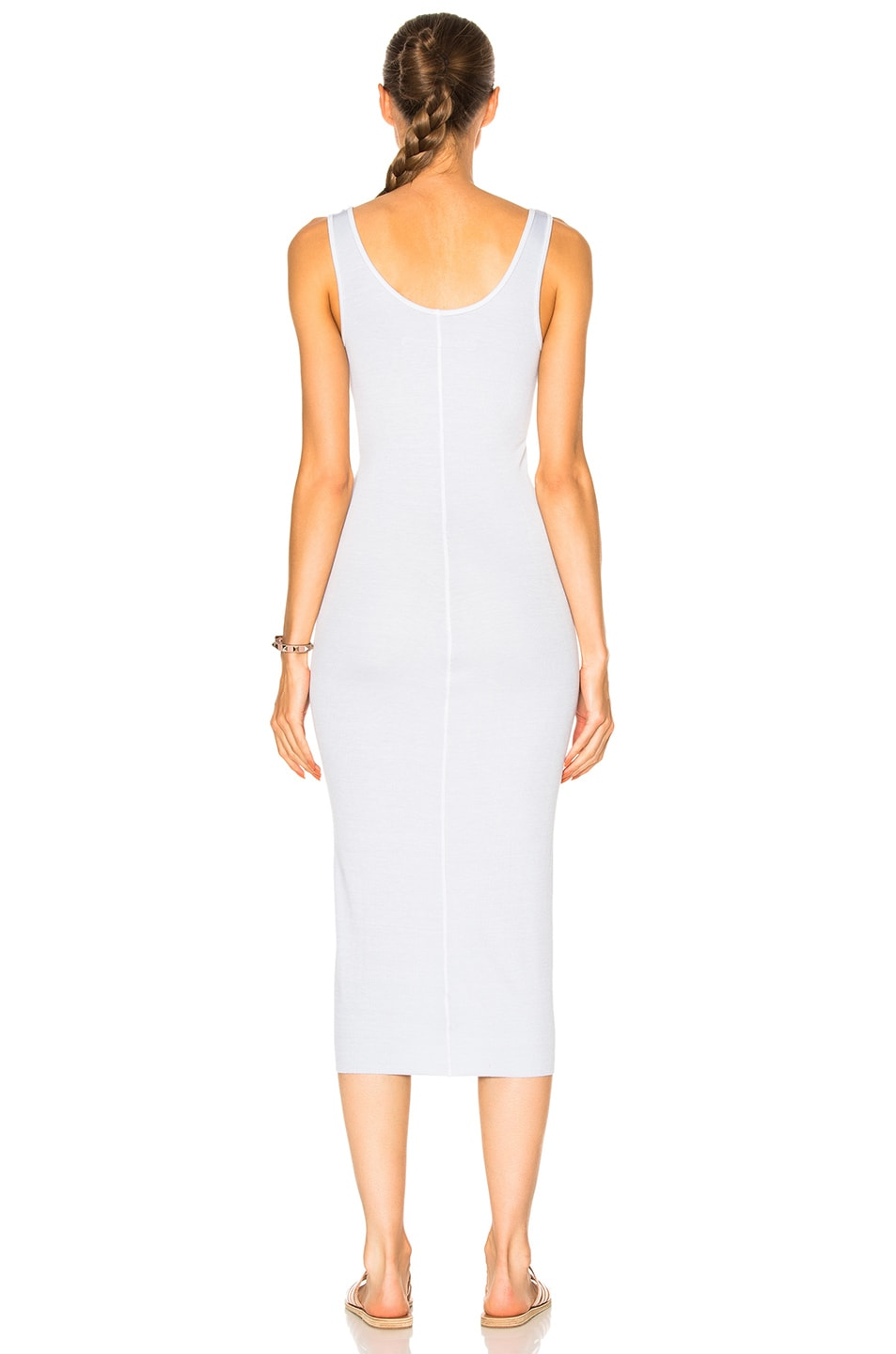 Image 4 of Enza Costa Midi Rib Tank Dress in Pale Blue