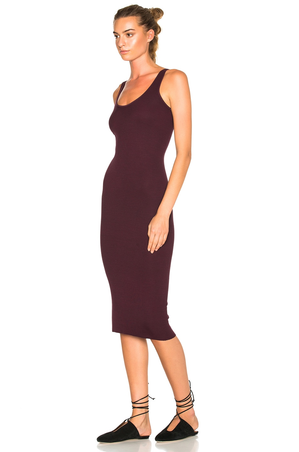 Image 2 of Enza Costa Rib Tank Dress in Port
