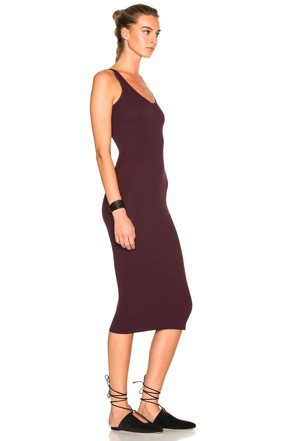 Image 3 of Enza Costa Rib Tank Dress in Port