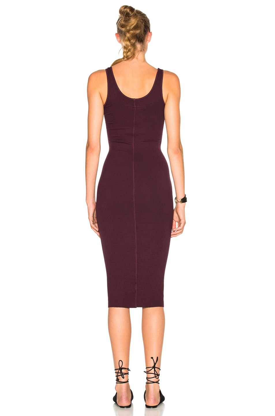 Image 4 of Enza Costa Rib Tank Dress in Port