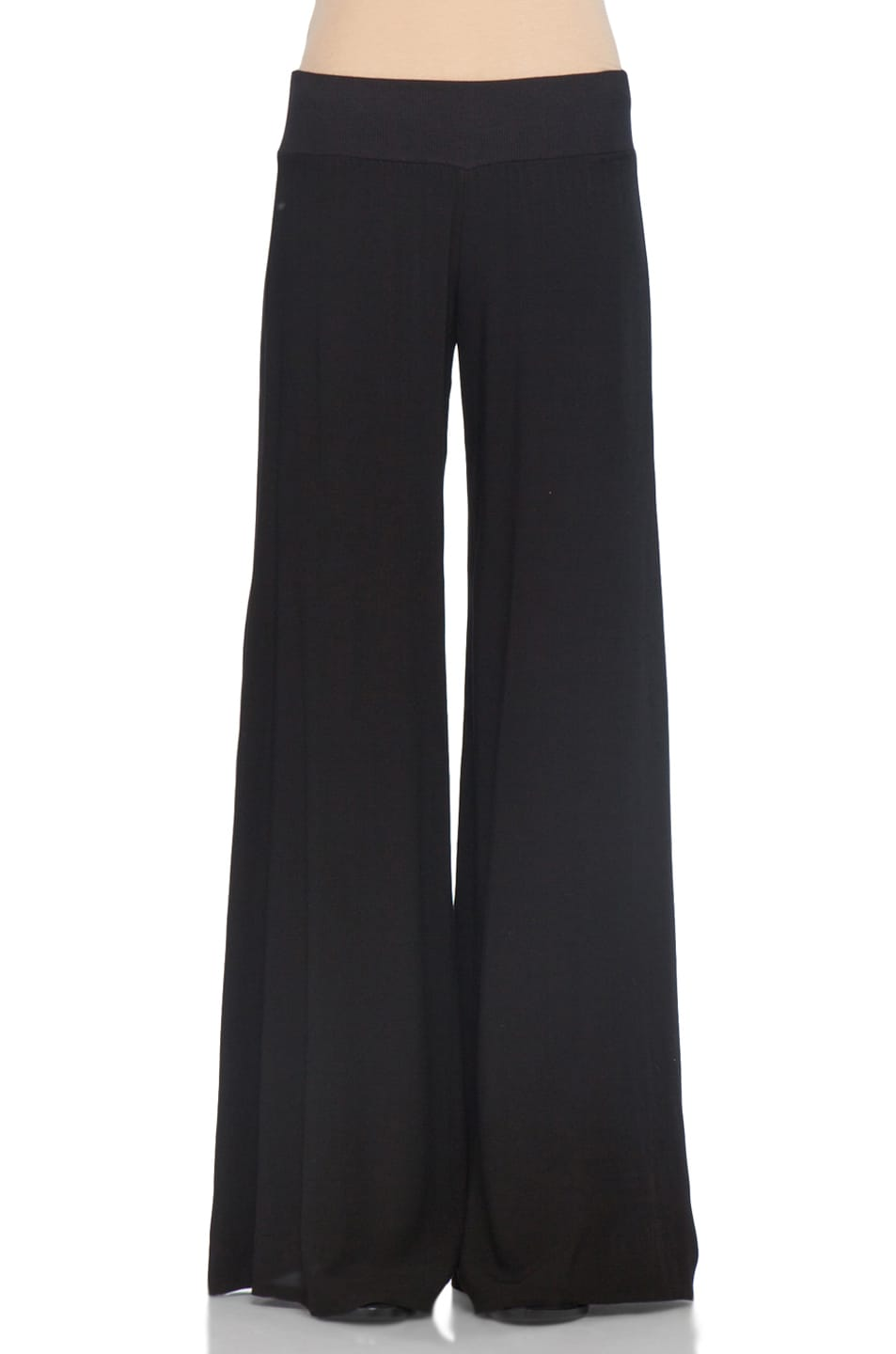 Image 1 of Enza Costa Challis Wide Leg Pant in Black
