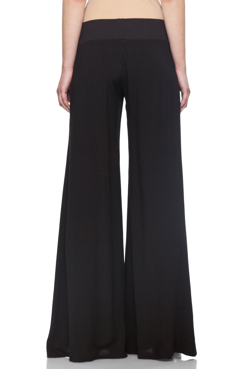 Image 4 of Enza Costa Challis Wide Leg Pant in Black