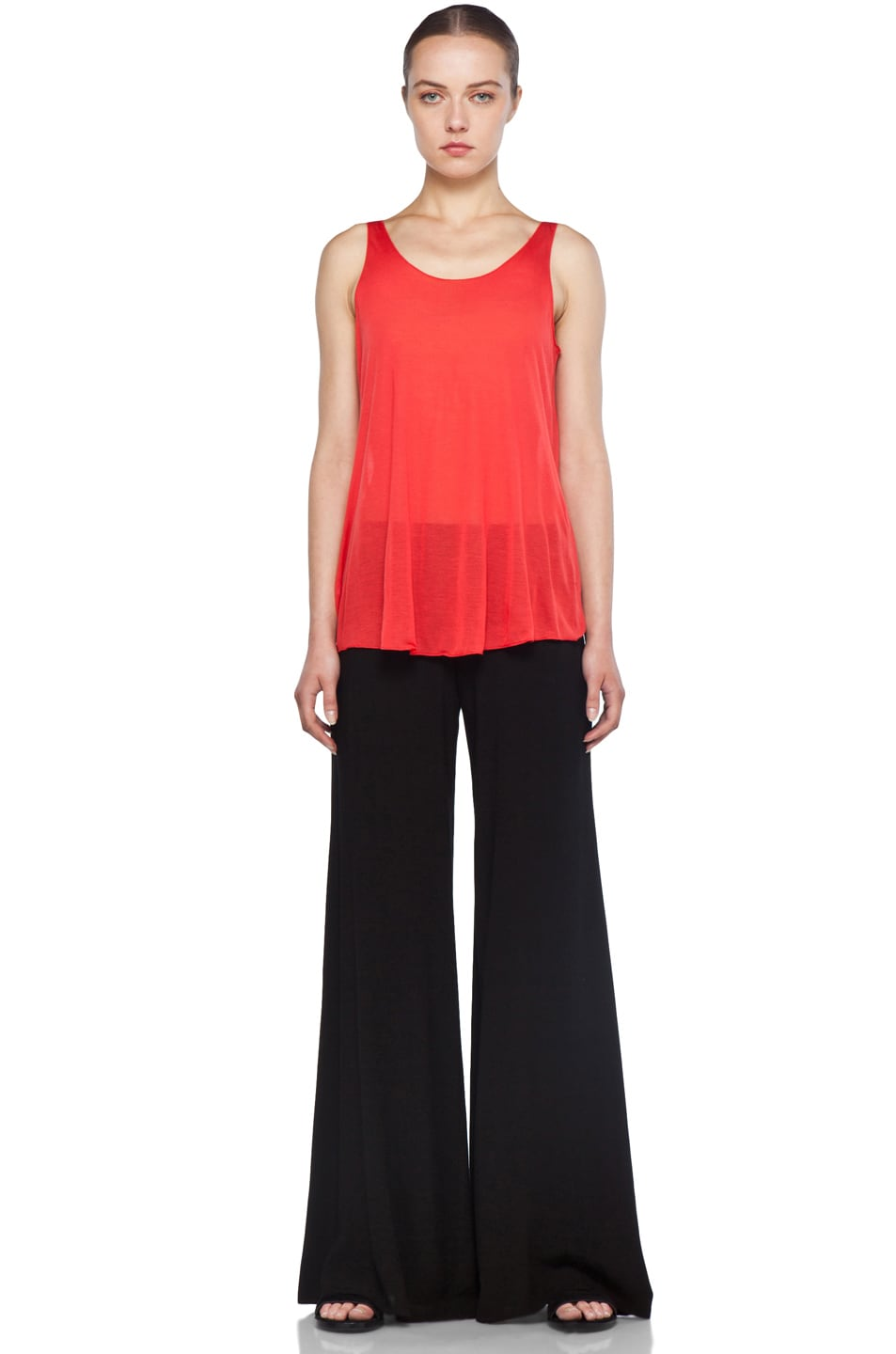 Image 5 of Enza Costa Challis Wide Leg Pant in Black