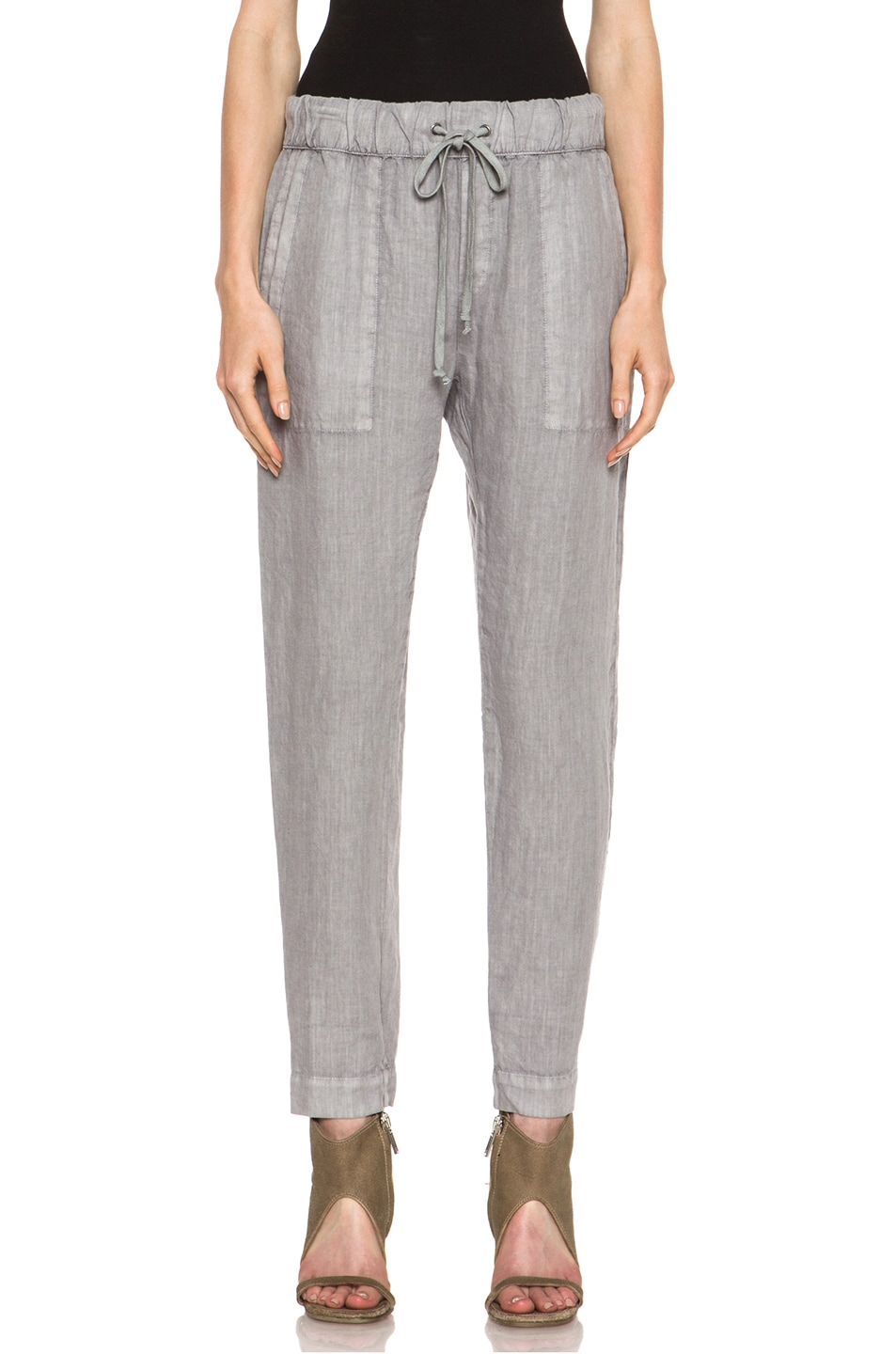 Image 1 of Enza Costa Linen Pant in Ashen