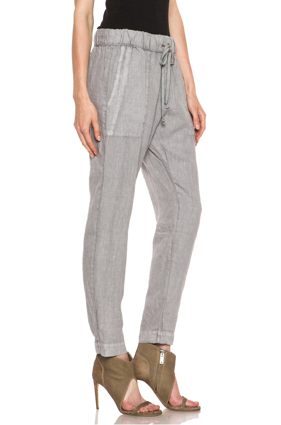 Image 3 of Enza Costa Linen Pant in Ashen