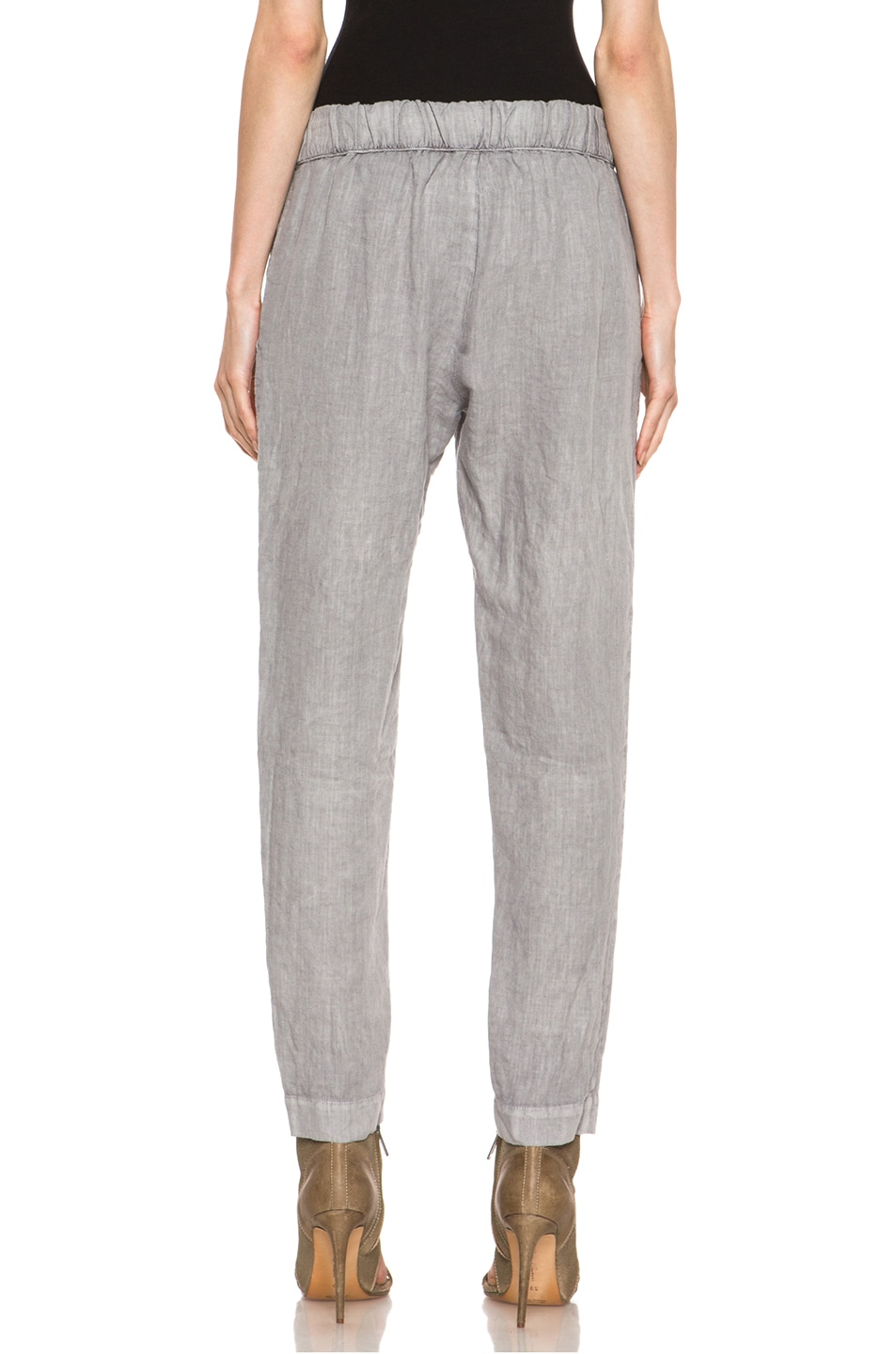 Image 4 of Enza Costa Linen Pant in Ashen