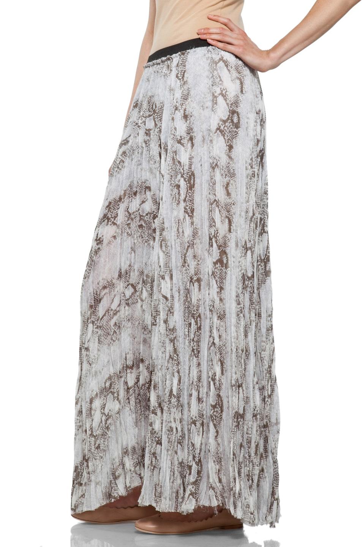 Image 2 of Enza Costa Chiffon Maxi Skirt in Pearl Boa
