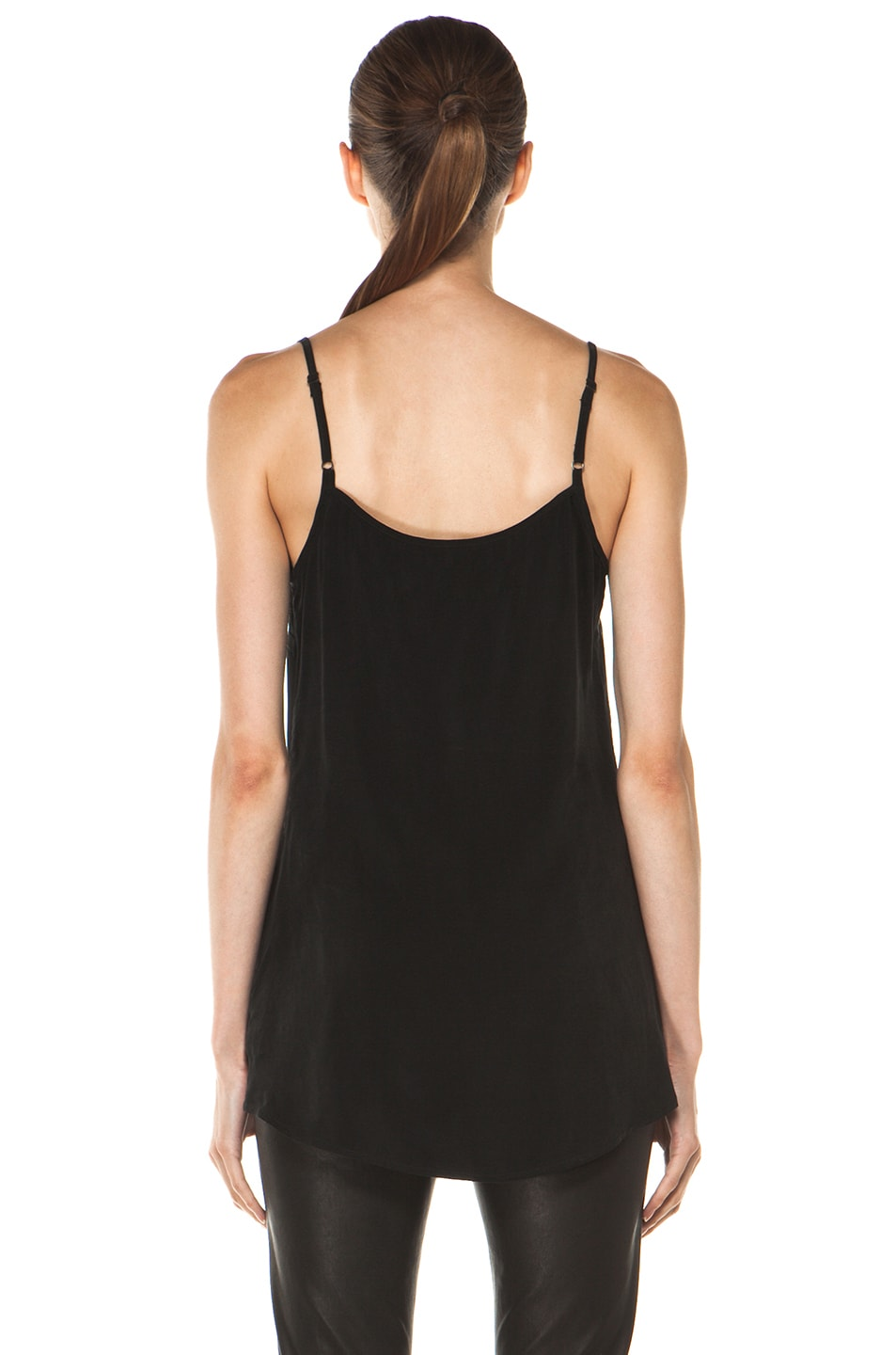 Image 4 of Enza Costa Cupro Cami in Black