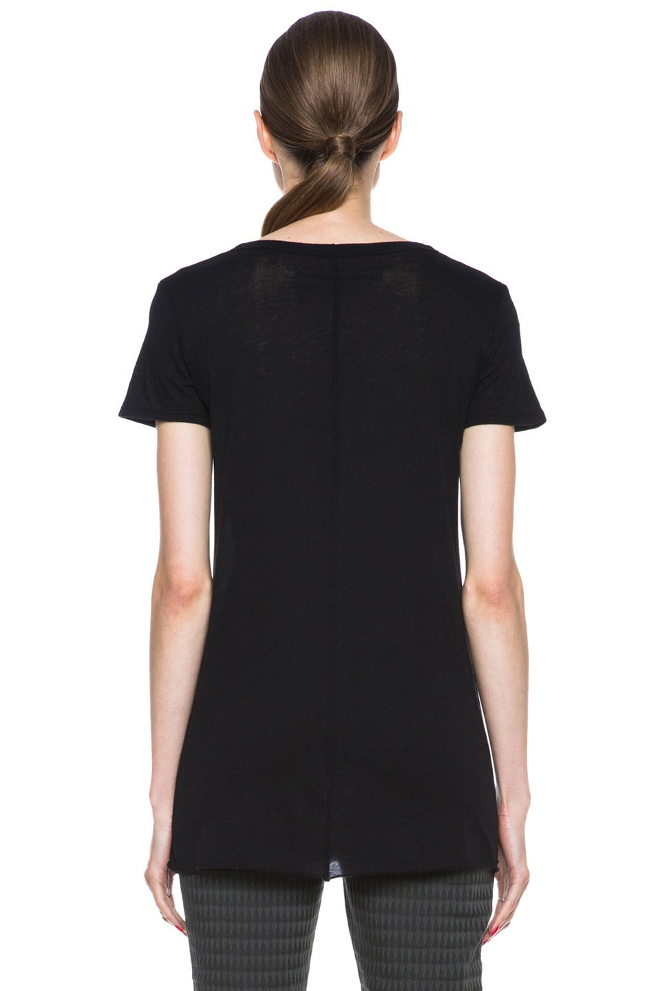 Image 4 of Enza Costa Loose Pima Cotton Tee in Black