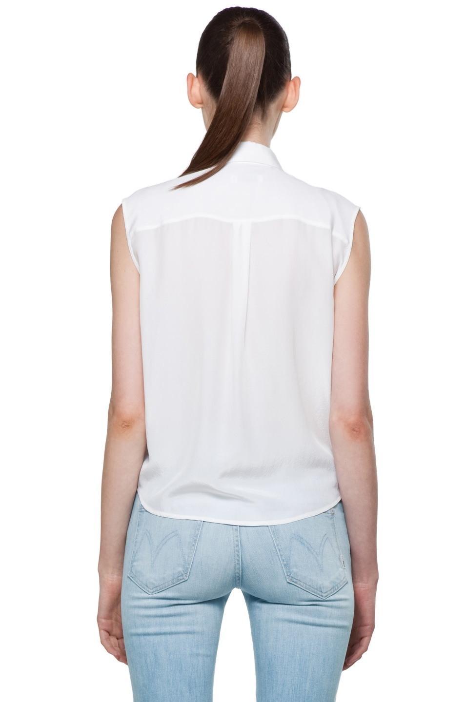 Image 5 of Equipment Diem Tie Front Blouse in Bright White