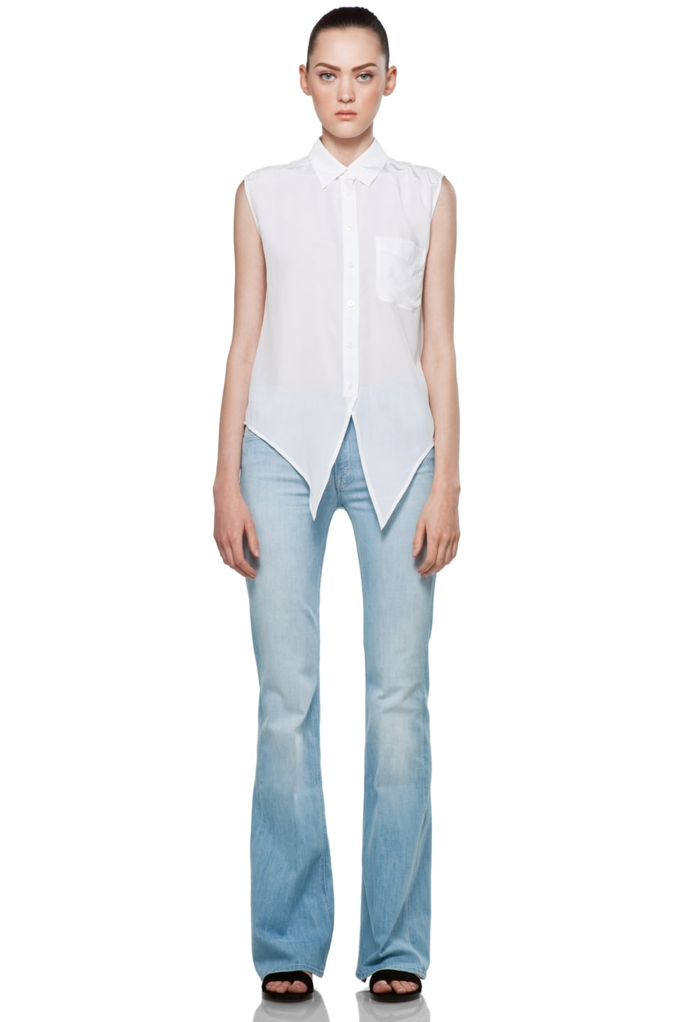 Image 6 of Equipment Diem Tie Front Blouse in Bright White