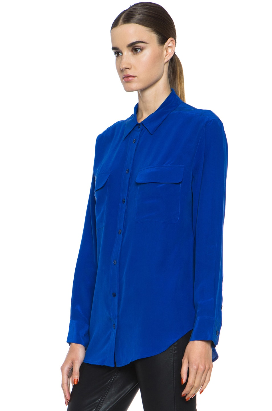 Image 2 of Equipment Signature Blouse in Mazarine Blue