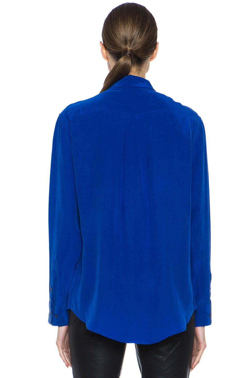 Image 4 of Equipment Signature Blouse in Mazarine Blue