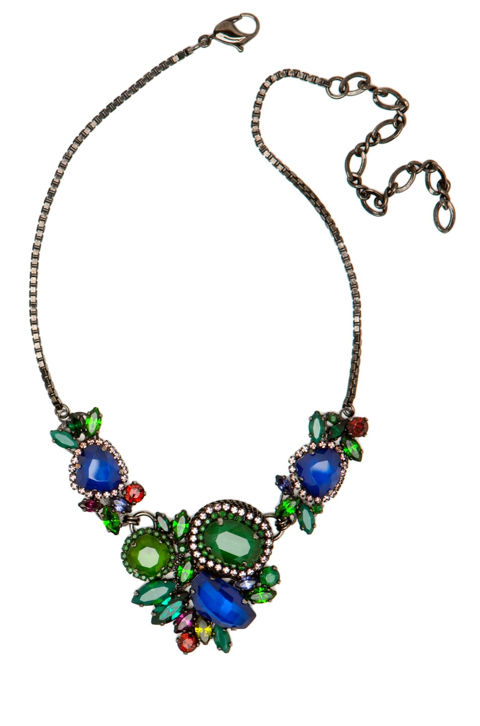 Image 1 of Erickson Beamon Bosa Nova Necklace in Teal/Blue
