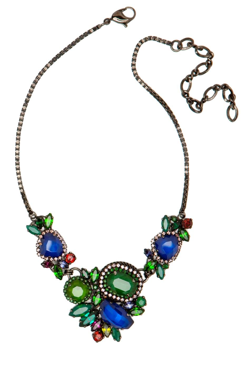 Image 1 of Erickson Beamon Bosa Nova Necklace in Teal/Blue