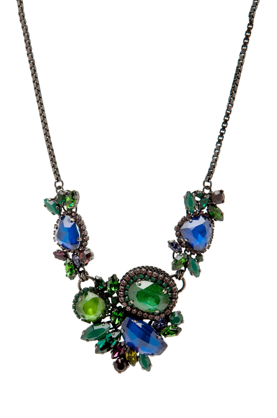 Image 2 of Erickson Beamon Bosa Nova Necklace in Teal/Blue
