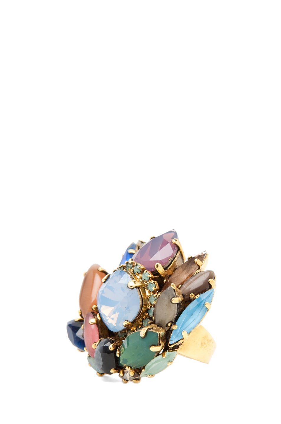 Image 1 of Erickson Beamon Rear Window Ring in Multi