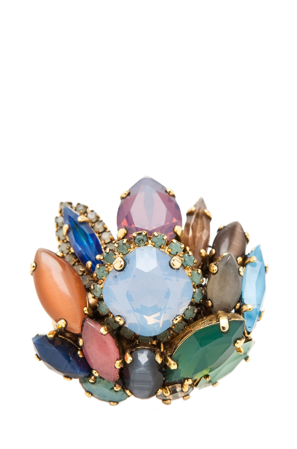 Image 2 of Erickson Beamon Rear Window Ring in Multi