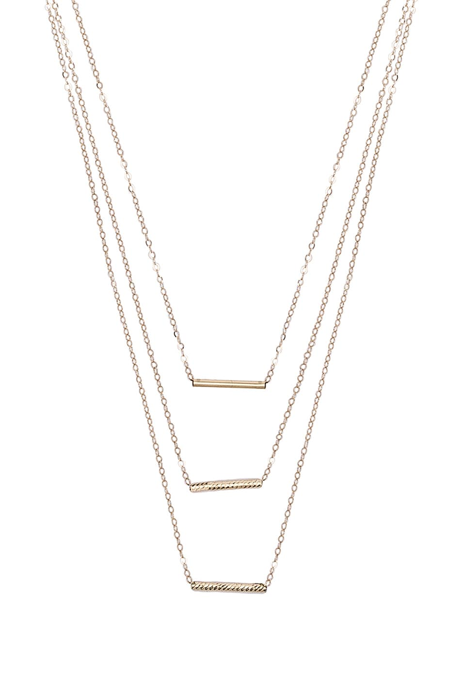 Image 1 of ERTH 14K Gold 3 Bar Necklace in Gold