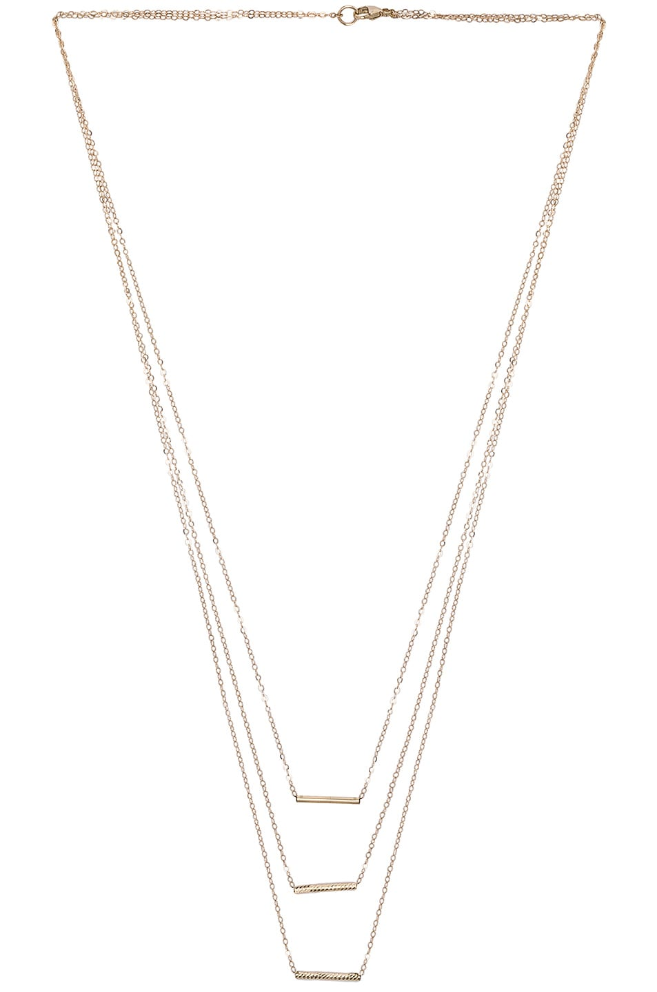 Image 2 of ERTH 14K Gold 3 Bar Necklace in Gold