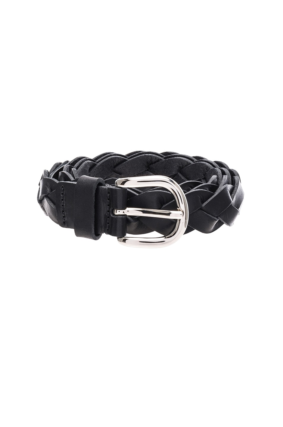 Image 3 of Isabel Marant Etoile Dirk Braided Belt in Black
