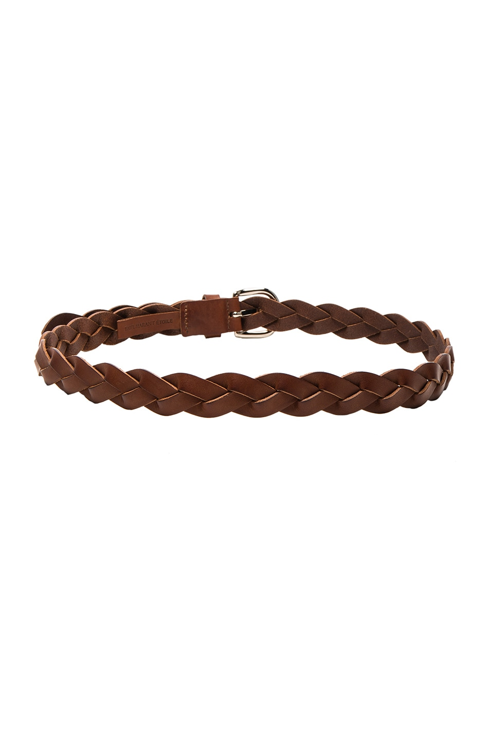 Image 2 of Isabel Marant Etoile Dirk Braided Belt in Chestnut