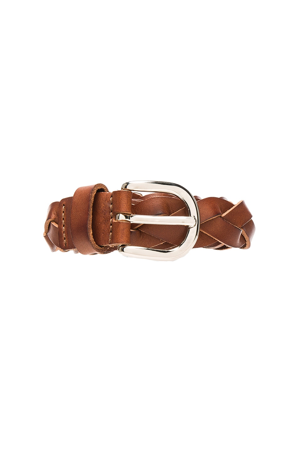 Image 3 of Isabel Marant Etoile Dirk Braided Belt in Chestnut
