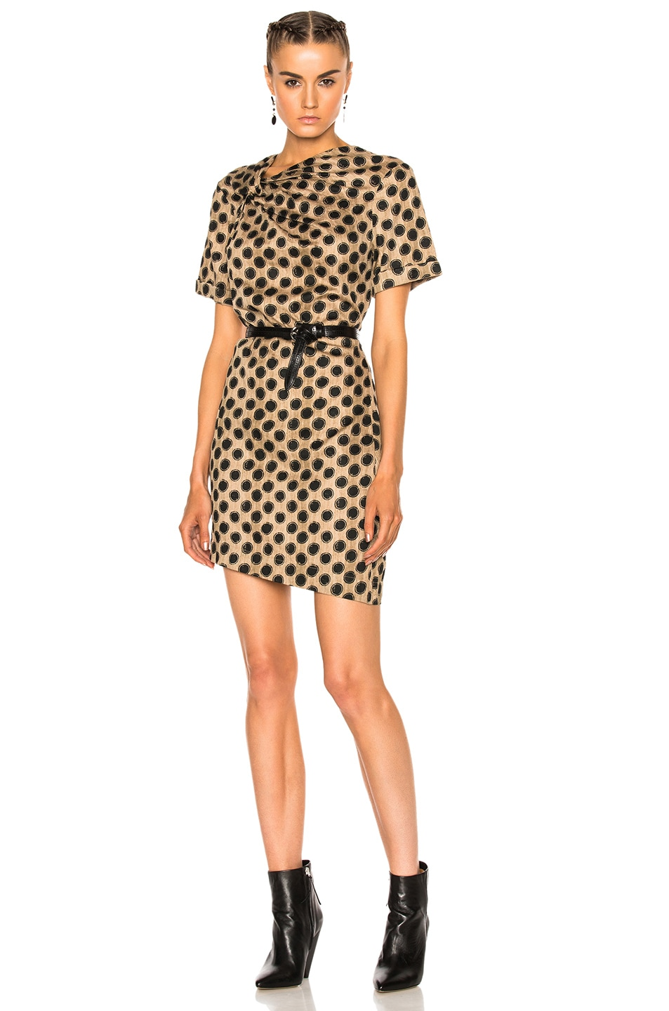Image 1 of Isabel Marant Etoile Jade Printed Cotton Dress in Ecru