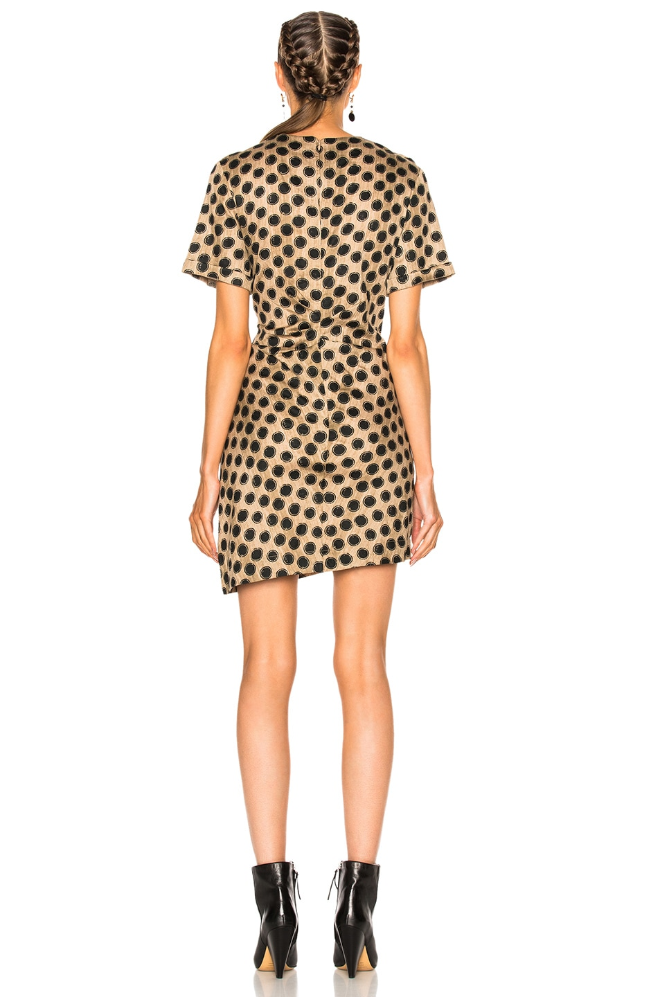 Image 4 of Isabel Marant Etoile Jade Printed Cotton Dress in Ecru