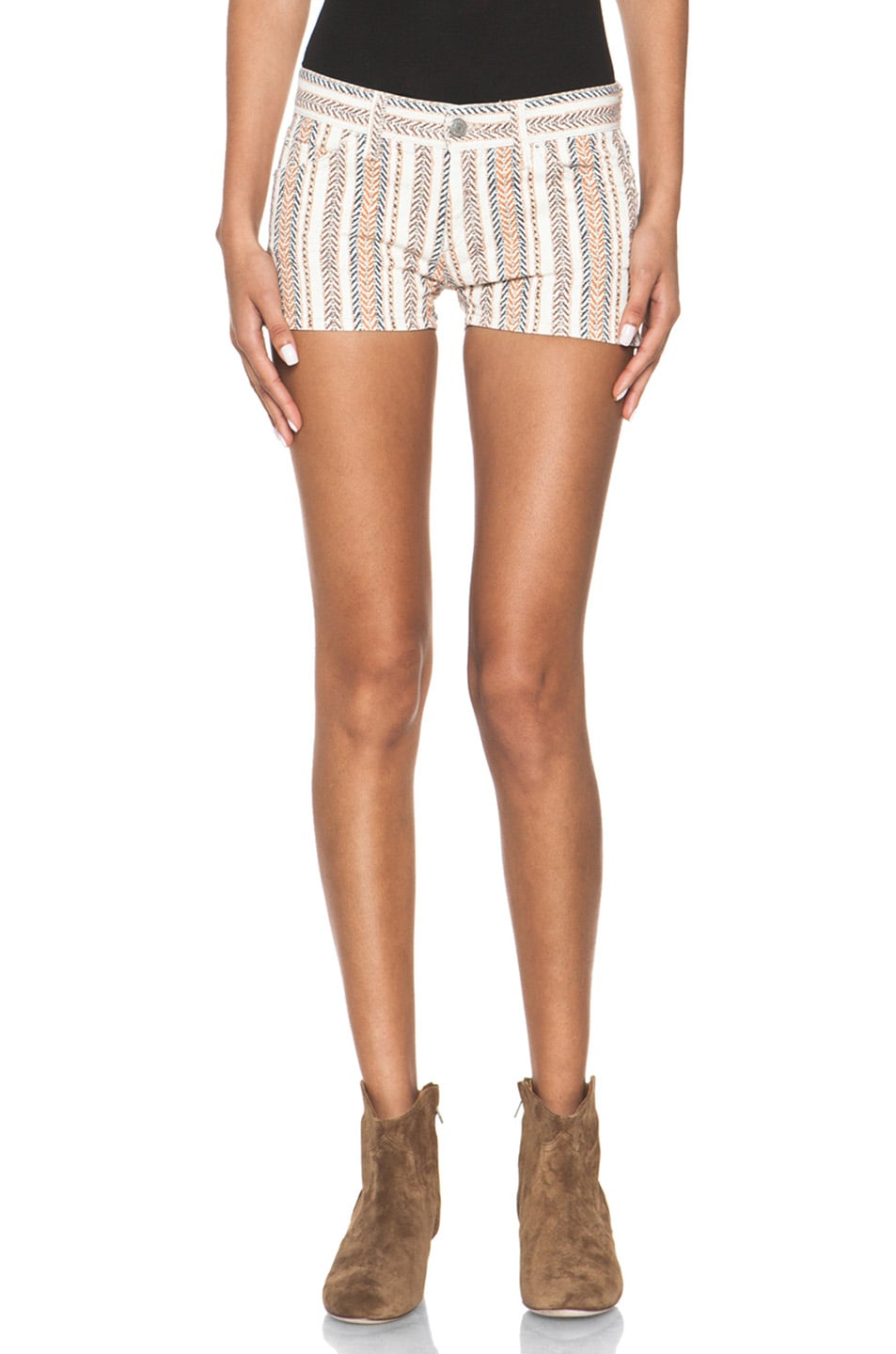 Image 1 of Isabel Marant Etoile Charly Striped Shorts in Moutarde
