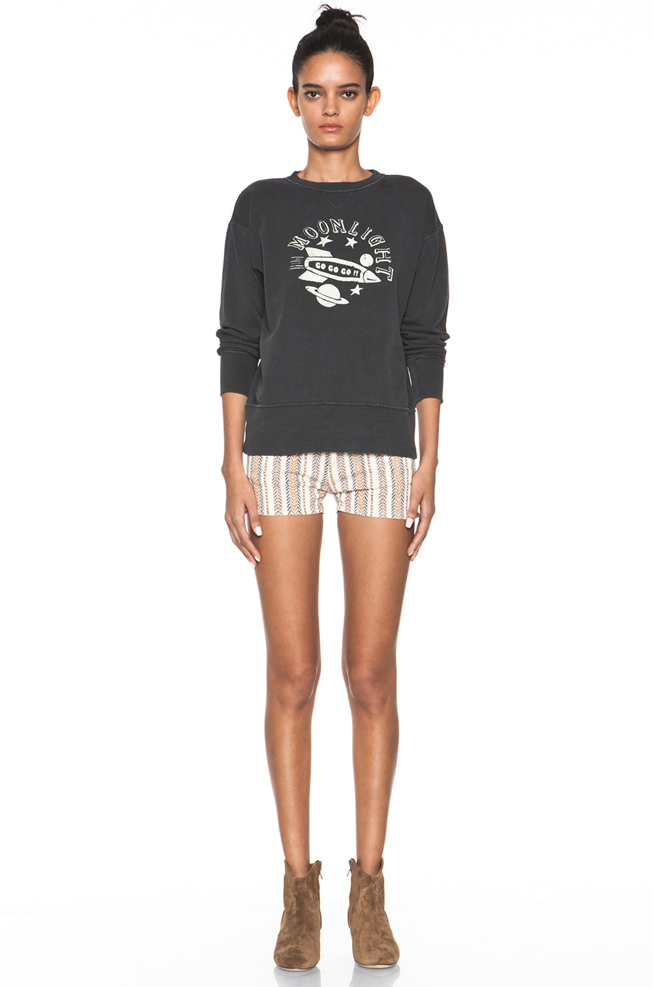 Image 5 of Isabel Marant Etoile Charly Striped Shorts in Moutarde