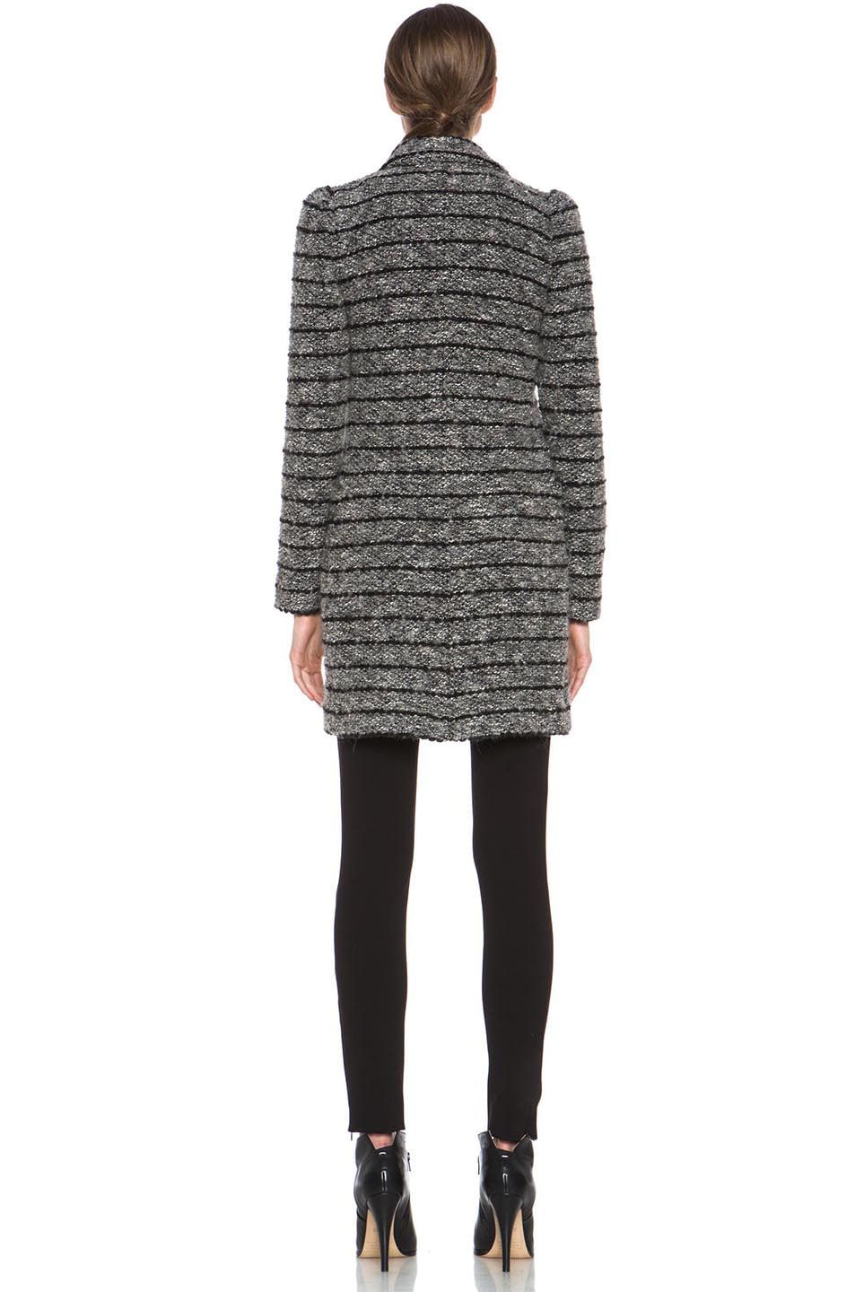 Image 5 of Isabel Marant Etoile Ifea Cowens Wool-Blend Knit Coat in Grey
