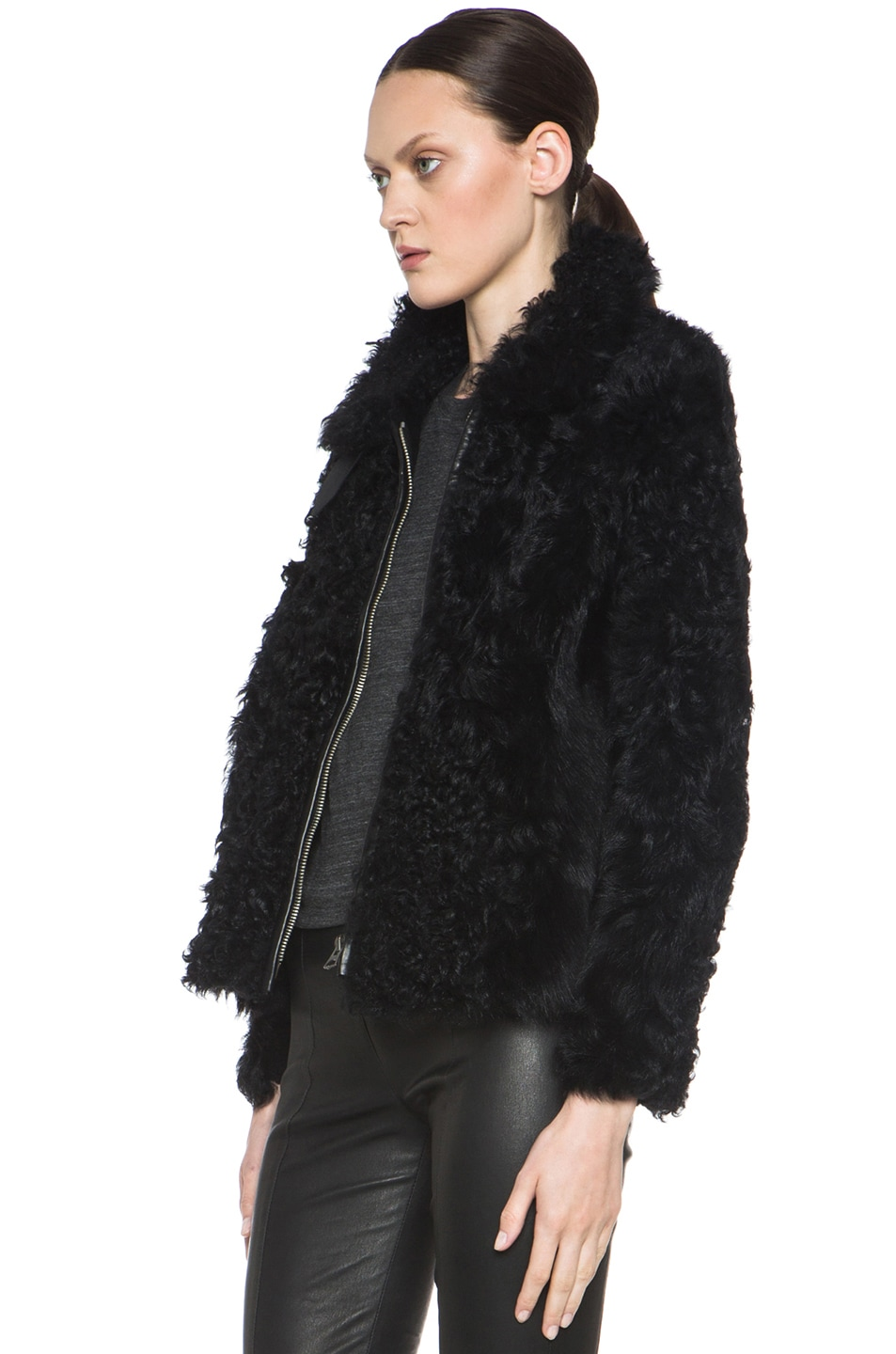 Image 3 of Isabel Marant Etoile Anders Shepard Coat in Black