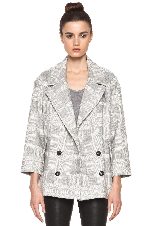 Image 2 of Isabel Marant Etoile Alika Blanket Coat in Gris Ecru