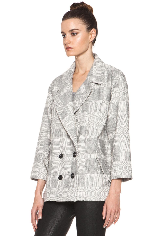 Image 3 of Isabel Marant Etoile Alika Blanket Coat in Gris Ecru