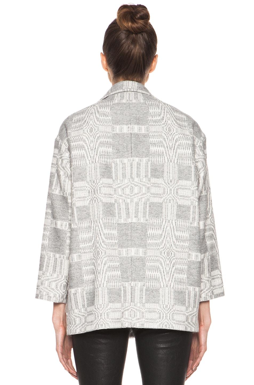 Image 5 of Isabel Marant Etoile Alika Blanket Coat in Gris Ecru