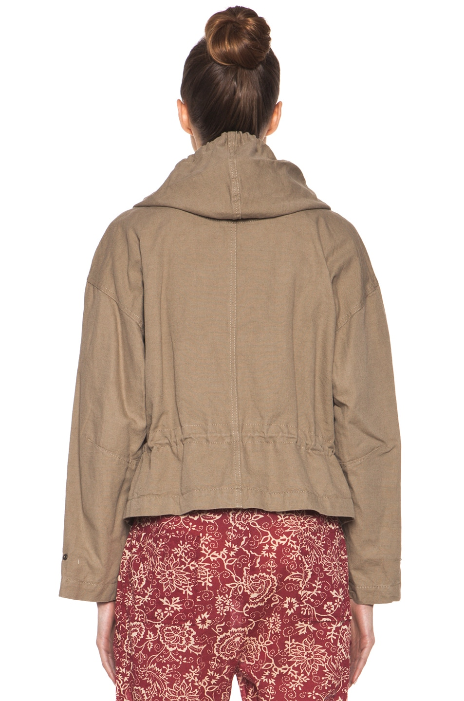 Image 4 of Isabel Marant Etoile Gilly Cotton Canvas Jacket in Ficelle