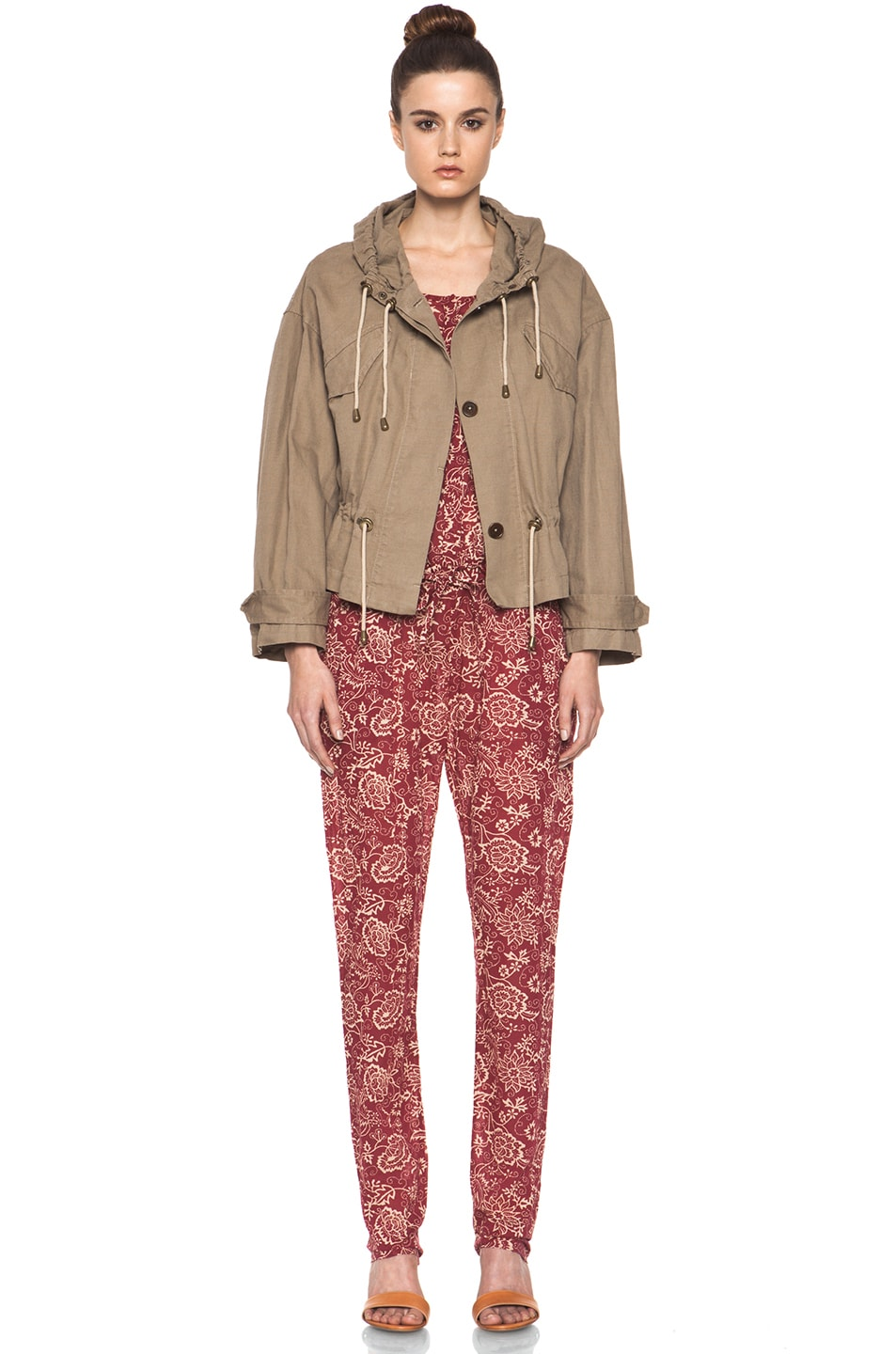 Image 5 of Isabel Marant Etoile Gilly Cotton Canvas Jacket in Ficelle
