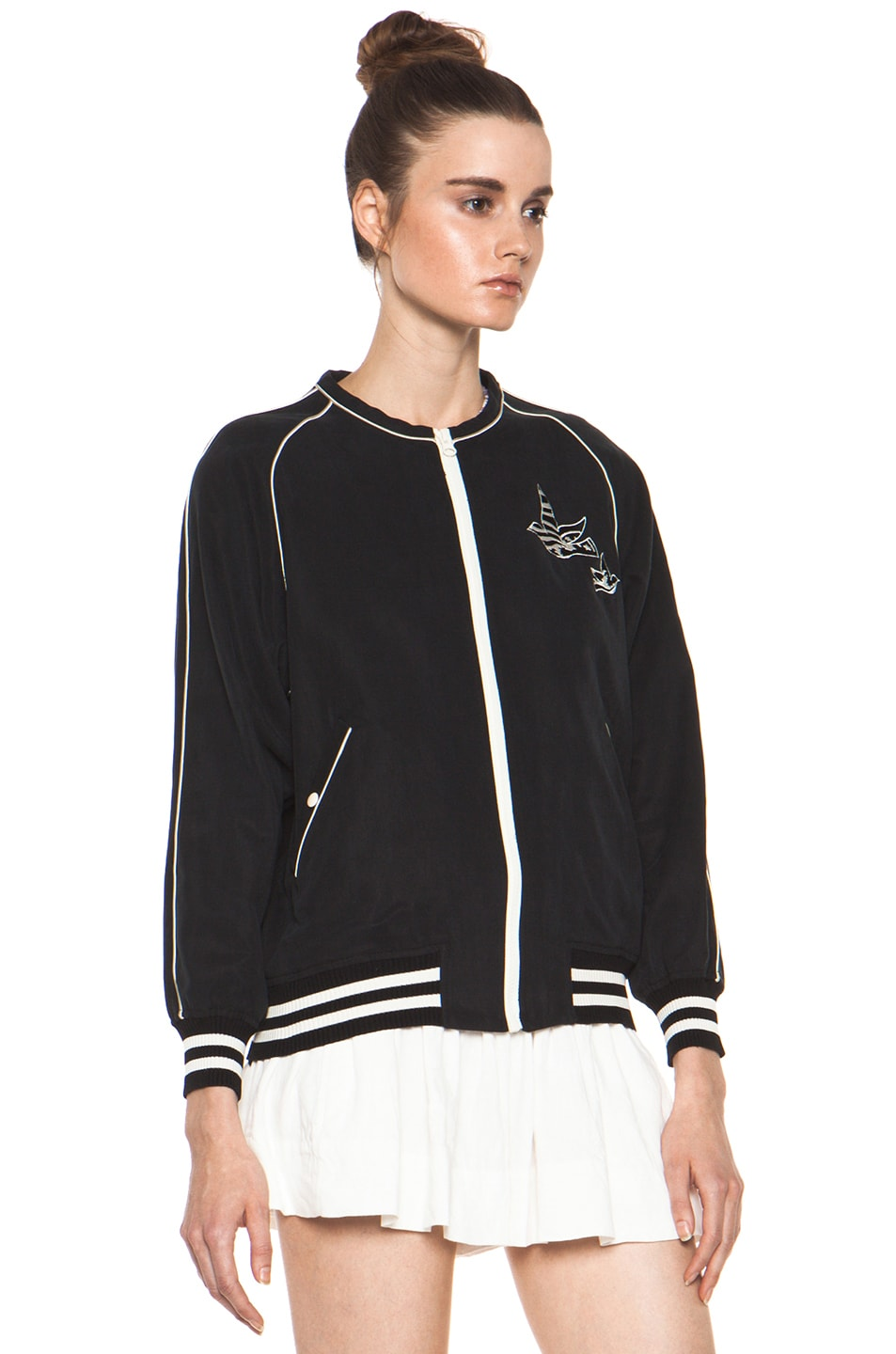 Image 4 of Isabel Marant Etoile Anderson Slouchy Cotton Drill Jacket in Noir