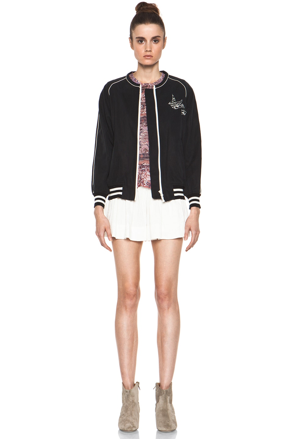 Image 6 of Isabel Marant Etoile Anderson Slouchy Cotton Drill Jacket in Noir
