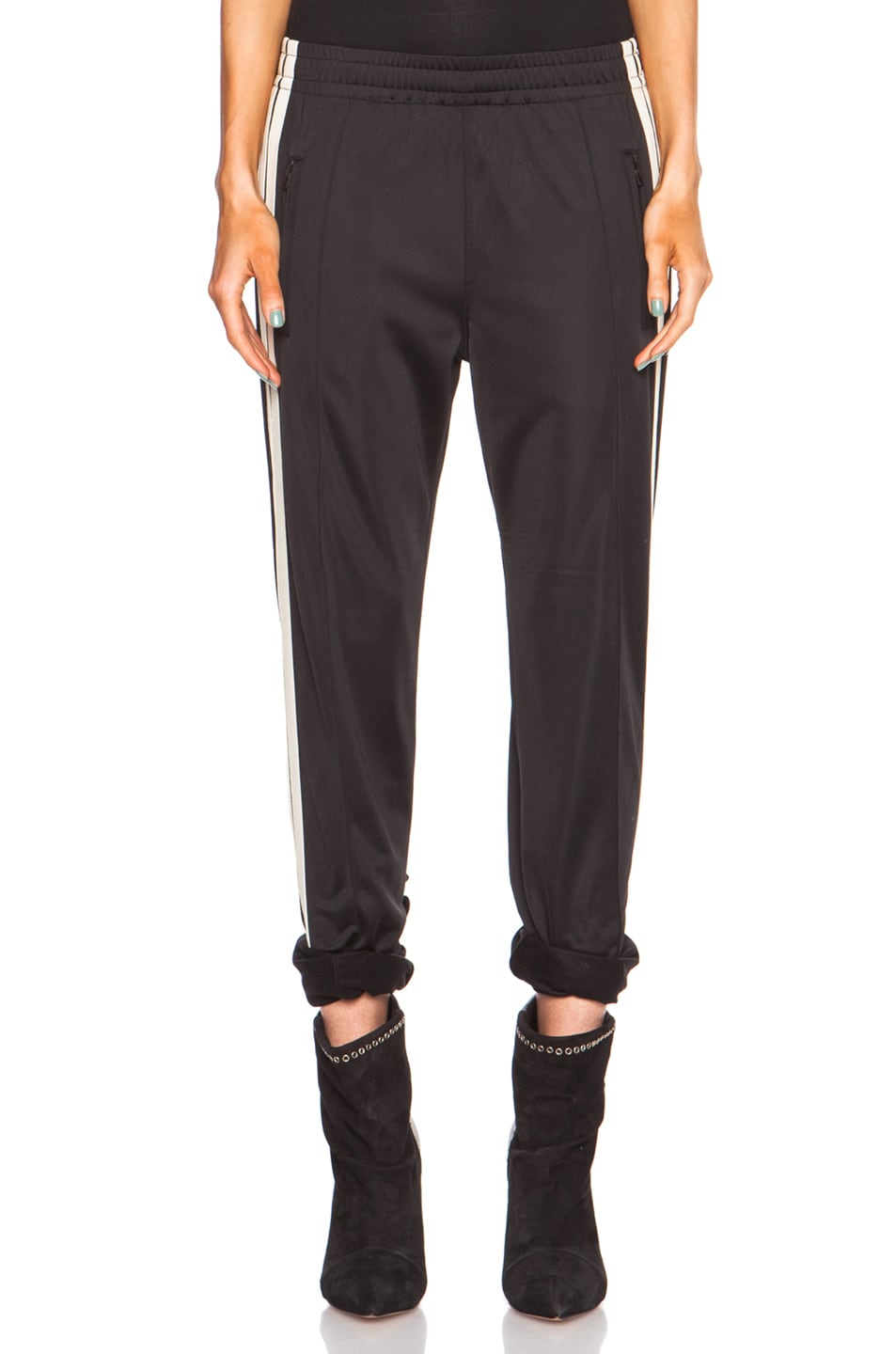 Image 1 of Isabel Marant Etoile Patsy Sporty Poly Pant in Black