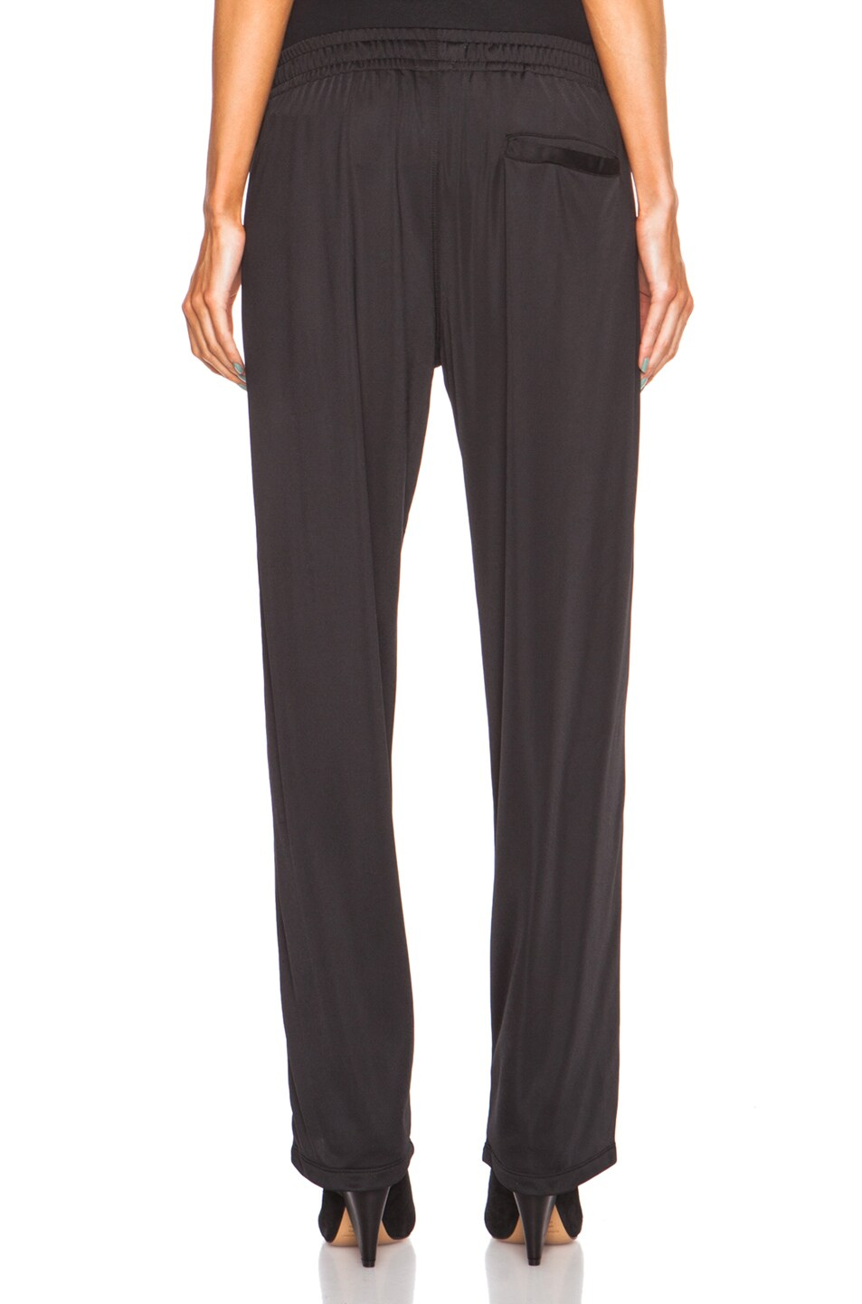 Image 4 of Isabel Marant Etoile Patsy Sporty Poly Pant in Black