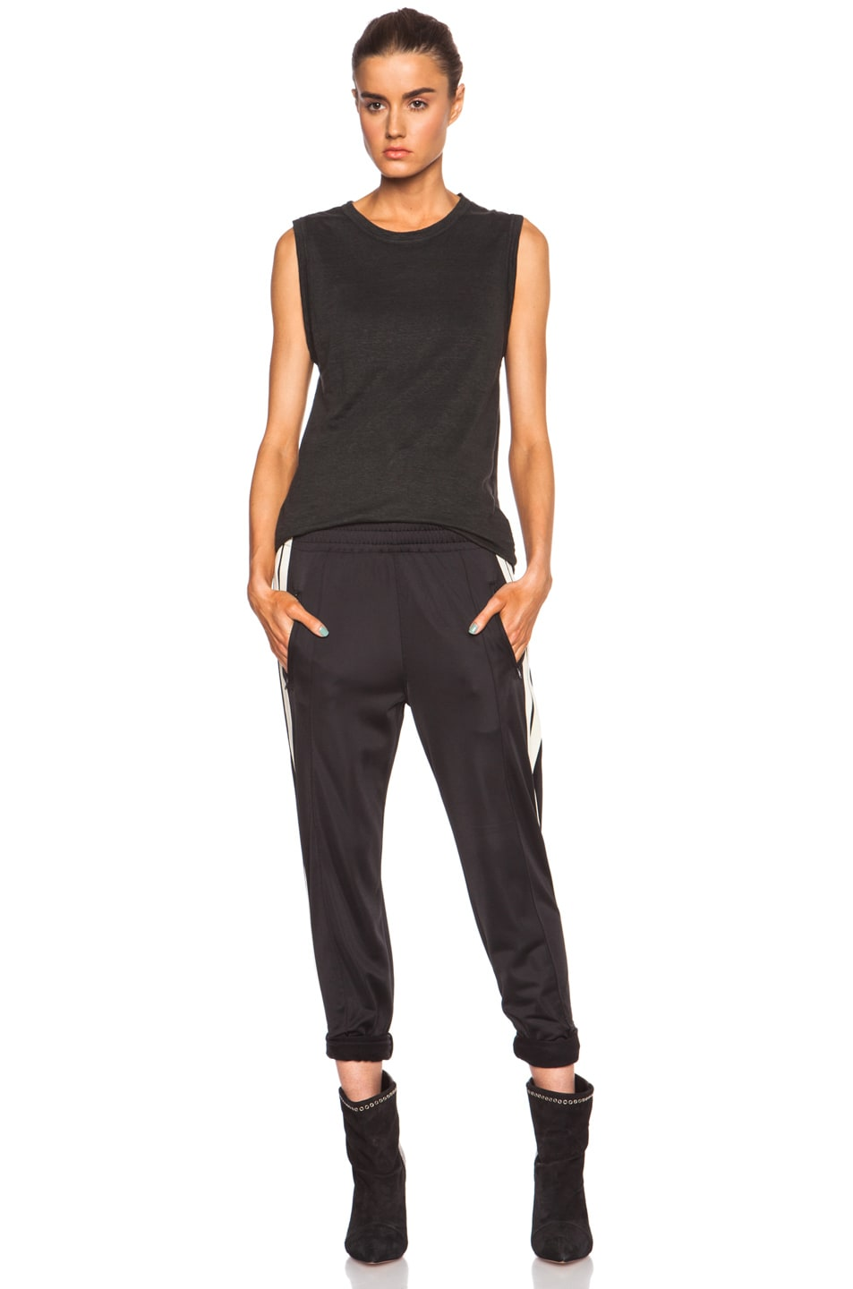 Image 5 of Isabel Marant Etoile Patsy Sporty Poly Pant in Black