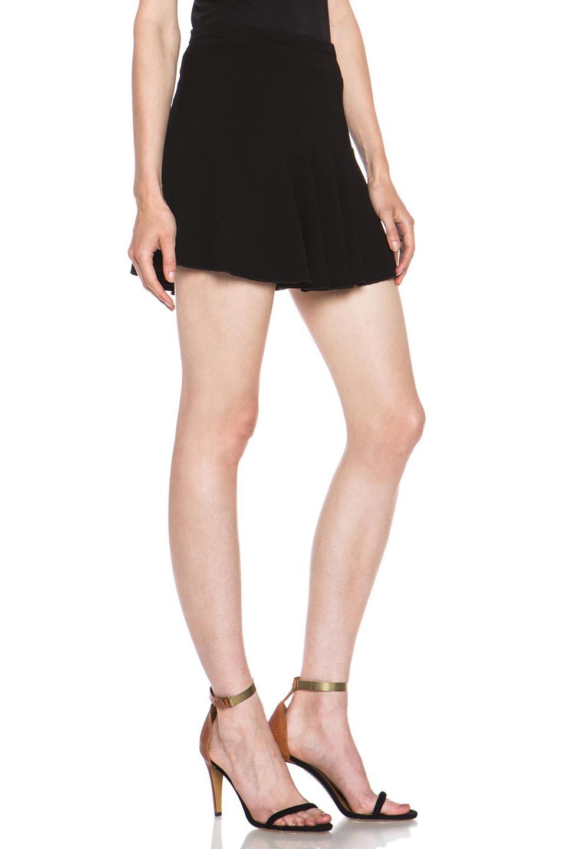 Image 3 of Isabel Marant Etoile Natalia Dressy Crepe Skirt in Black