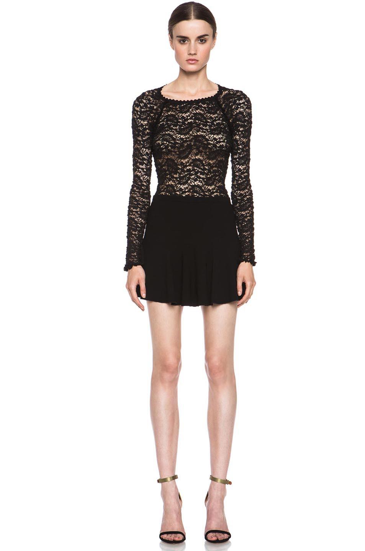 Image 5 of Isabel Marant Etoile Natalia Dressy Crepe Skirt in Black