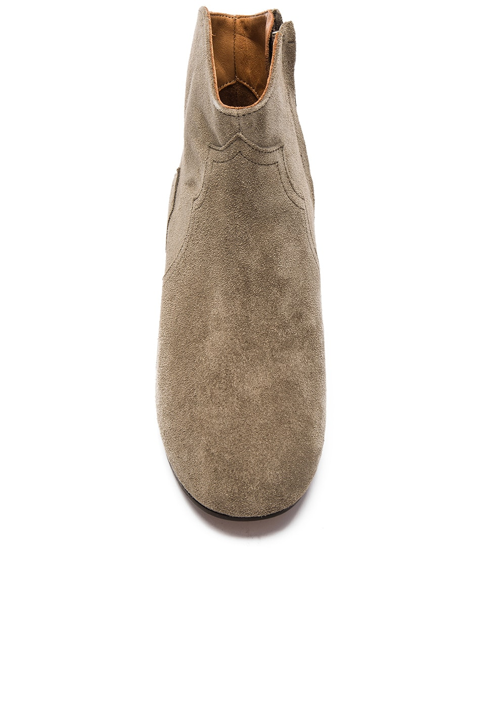 Image 4 of Isabel Marant Etoile Dicker Velvet Booties in Taupe
