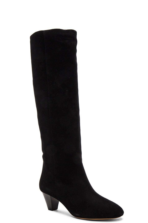 Image 2 of Isabel Marant Etoile Robby New Velvet Boots in Black